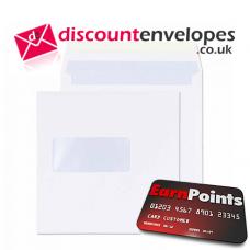 Square Wallet Gummed Window White 170×170mm 100gsm