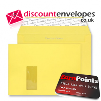 Wallet Peel and Seal Window Banana Yellow C4 229×324mm 120gsm