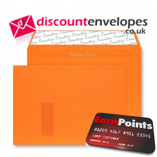 Wallet Peel and Seal Window Pumpkin Orange C4 229×324mm 120gsm