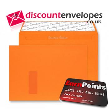 Wallet Peel and Seal Window Pumpkin Orange C4 229×324mm 120gsm