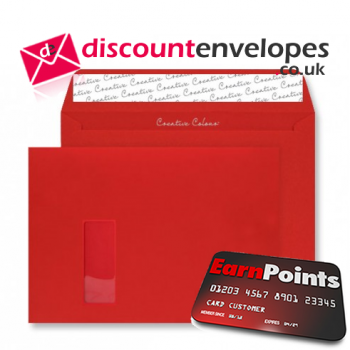 Wallet Peel and Seal Window Pillar Box Red C4 229×324mm 120gsm