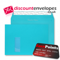 Wallet Peel and Seal Window Cocktail Blue C4 229×324mm 120gsm