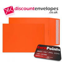 Gusset Pocket Peel and Seal Pumpkin Orange C4 324×229×25mm