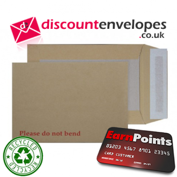 Board Back Pocket Peel and Seal Manilla 241×178mm 120gsm