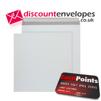 All Board Pocket Peel and Seal White Board LP 340×340mm 350gsm 500µm