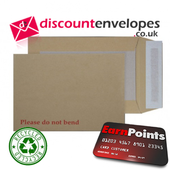 Board Back Pocket Peel and Seal Manilla 394×318mm 120gsm