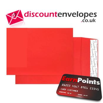 Gusset Pocket Peel and Seal Pillar Box Red C5 229×162×25mm 140gsm