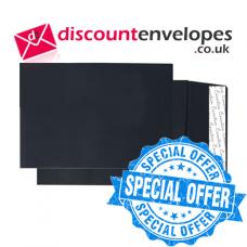 Gusset Pocket Peel and Seal Jet Black C5 229×162×25mm 140gsm