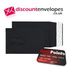 Gusset Pocket Window Peel and Seal Jet Black C5 229×162×25mm 140gsm