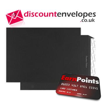 Gusset Pocket Peel and Seal Jet Black C4 324×229×25mm 140gsm
