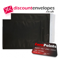 Padded Bubble Pocket Peel and Seal Matt Black 470×330mm