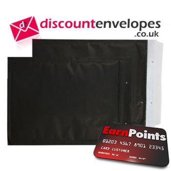 Padded Bubble Pocket Peel and Seal Matt Black 470×330mm